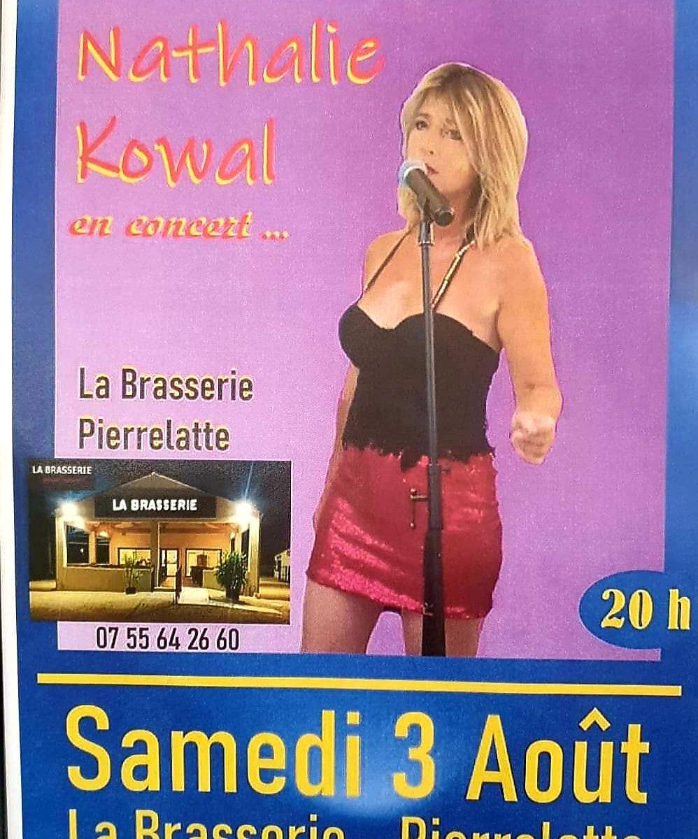 Nathalie Kowal samedi soir 3 août à La Brasserie