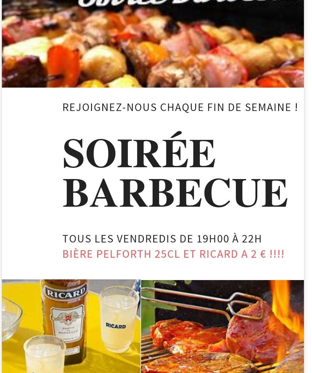 Soirée barbecue tous les vendredis soir d'été!